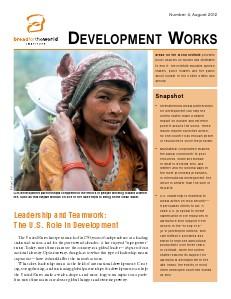 Development Works Number 4, August 2012