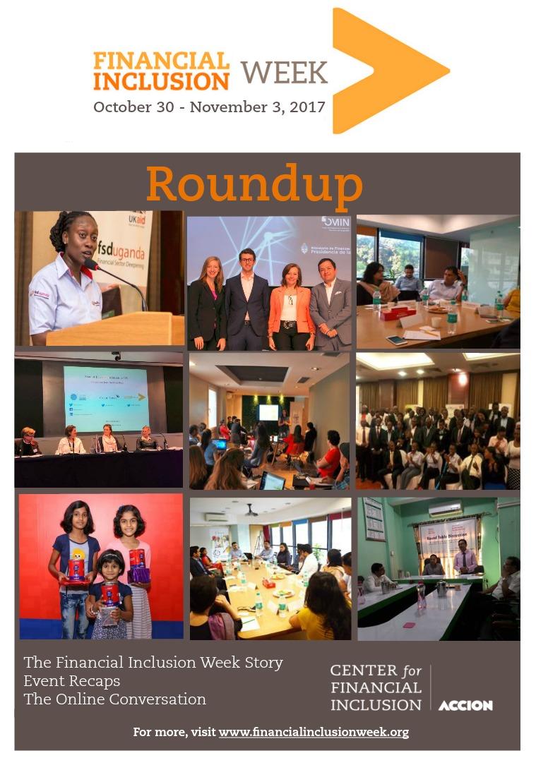 Financial Inclusion 2020: Essential Debates Financial Inclusion Week 2017 Roundup