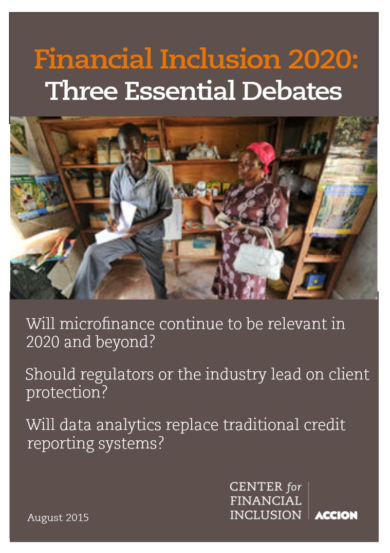 Financial Inclusion 2020: Essential Debates Three Essential Debates