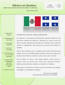 Boletín México en Quebec