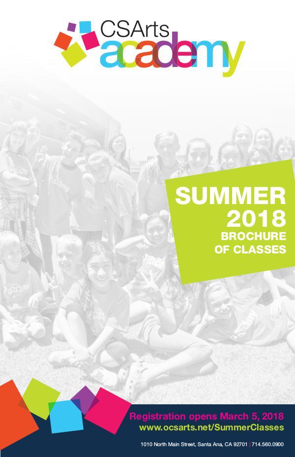 CSArts Academy at OCSA Summer 2018