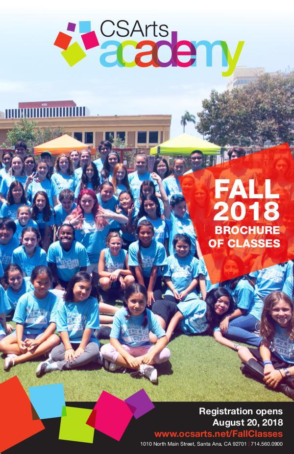 CSArts Academy at OCSA Fall 2018