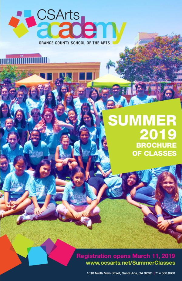 CSArts Academy at OCSA Summer 2019