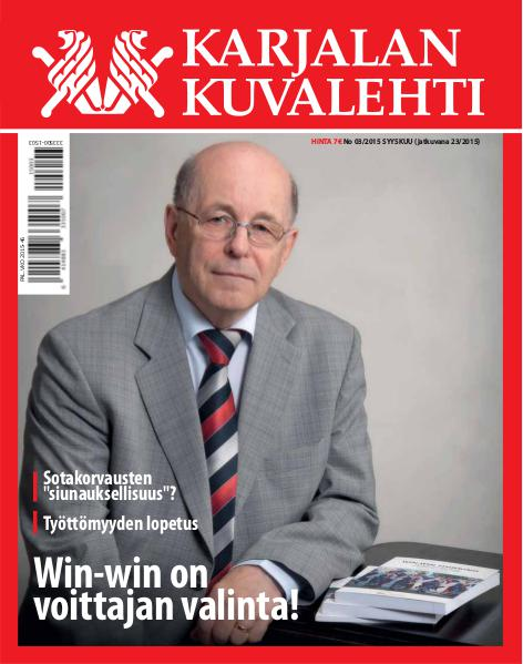 Karjalan Kuvalehti 04/2018 eli numero 36 23 eli 03/2015 Syyskuu