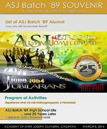 ASJ Batch '89 Souvenir
