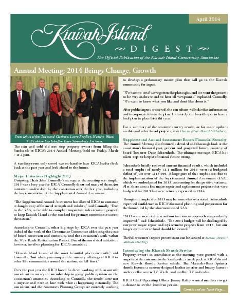 Kiawah Island Digest April 2014