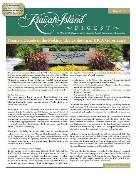 Kiawah Island Digest May 2014