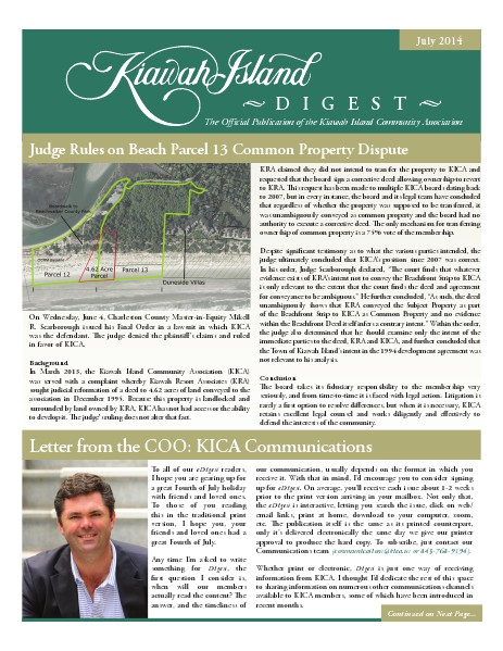 Kiawah Island Digest July 2014