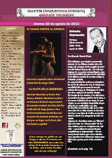 Boletín Informativo Semanal de GUARDIA TANGUERA