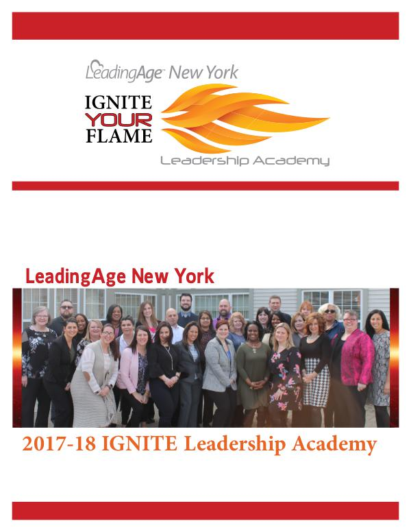 LeadingAge New York 2018 Leadership Academy Action Learning Project Vol. 1