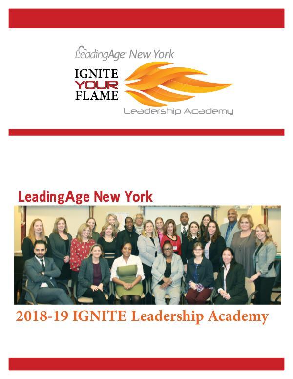 2018-19 LeadingAge New York IGNITE Leadership Academy Leadership Academy 2018-19 ALP Project Final to Po