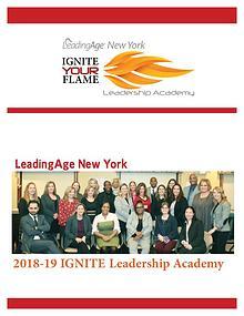 2018-19 LeadingAge New York IGNITE Leadership Academy