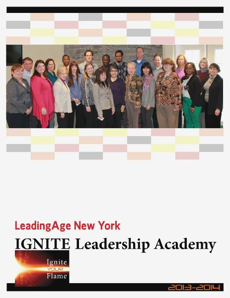 Leadership Academy 2013-14 LeadingAge New York Feb. 2014