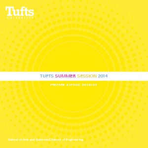 Tufts Summer Session Viewbook Summer 2014