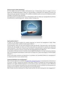 Le cloud gratuit, fiable et disponible