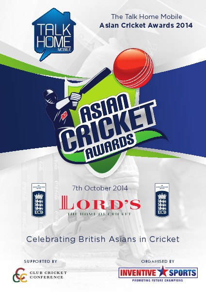 The 'Talk Home Mobile' Asian Cricket Awards 2014 (7th October 2014)