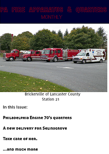 PA FIRE APPARATUS & QUARTERS