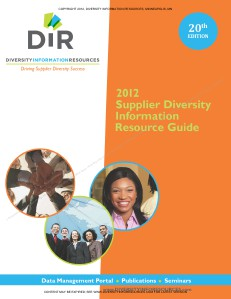 DIR's Supplier Diversity Information Resource Guide 20, Jan 2012
