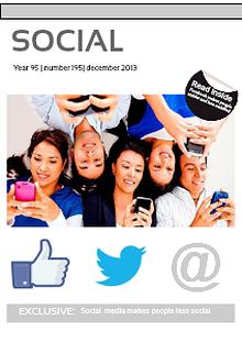 Social Media Makes People Less Social