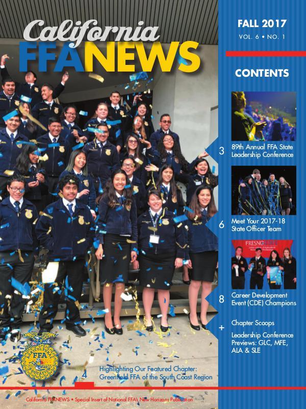 California FFA News Fall 2017