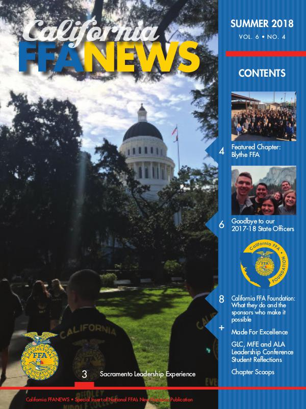 California FFA News Summer 2018