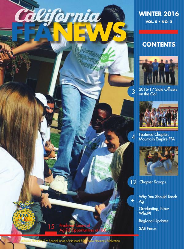 California FFA News Winter 2016