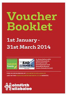 Holmfirth Hullabaloo Voucher Booklet - January to March 2014