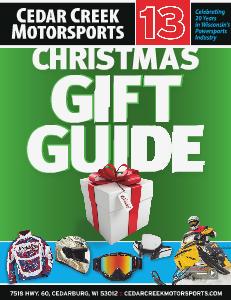 Cedar Creek Motorsports Christmas Catalog 2013