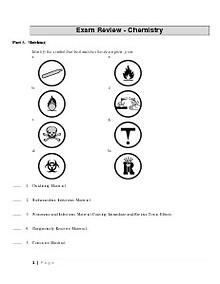 Grade 9 Science Chemistry Exam Review