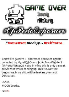 #r00ts3curity | Weekly Data & Pedo Leak | #OpPedoExposure #OpPedoFEAR