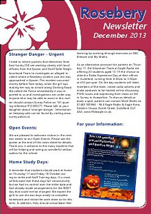 ROSEBERY NEWSLETTER DECEMBER 2013