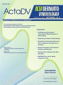 Acta Dermato-Venereologica Issue 8, 2017