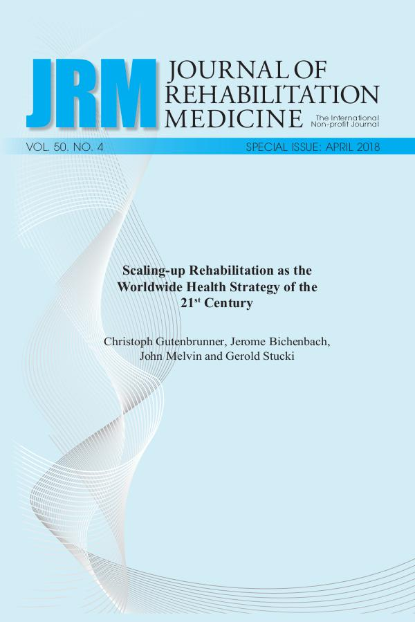 Journal of Rehabilitation Medicine: Special Issue 50-4bokBW