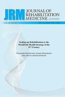 Journal of Rehabilitation Medicine: Special Issue