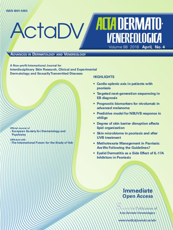 Acta Dermato-Venereologica 98-4CompleteContent