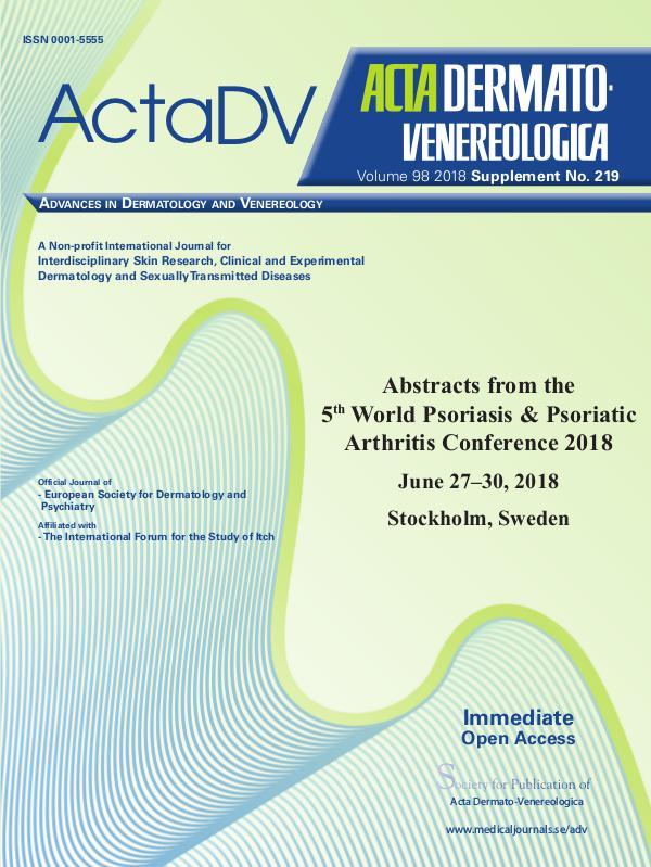 Acta Dermato-Venereologica Suppl 219 AbstractPsoriasis2018