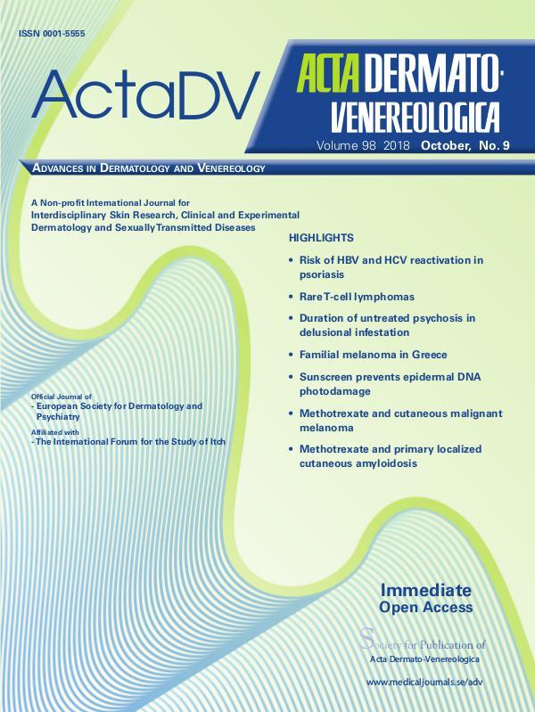 Acta Dermato-Venereologica 98-9CompleteContent