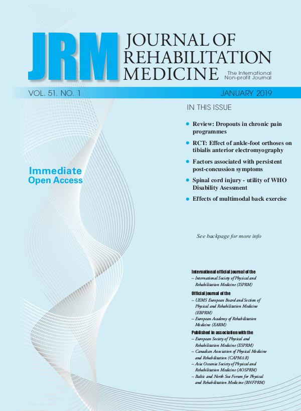 Journal of Rehabilitation Medicine 51-1CompleteIssue
