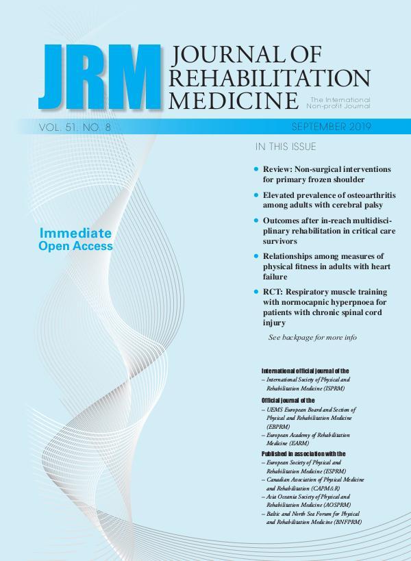 Journal of Rehabilitation Medicine 51-8