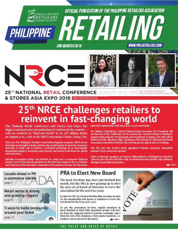 Philippine Retailing Newsletters 2018 PRA Newsletter 2018 Q2