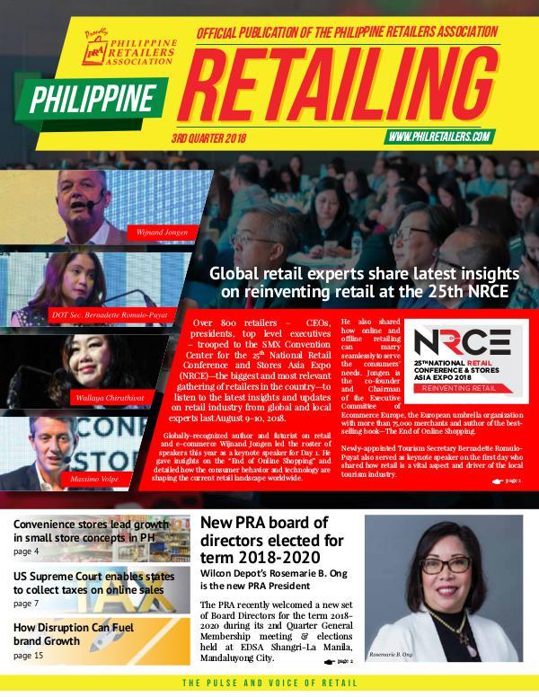Philippine Retailing Newsletters 2018 PRA Newsletter 2018 Q3