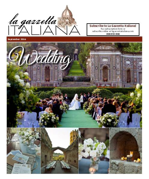 La Gazzetta Italiana Wedding 2016