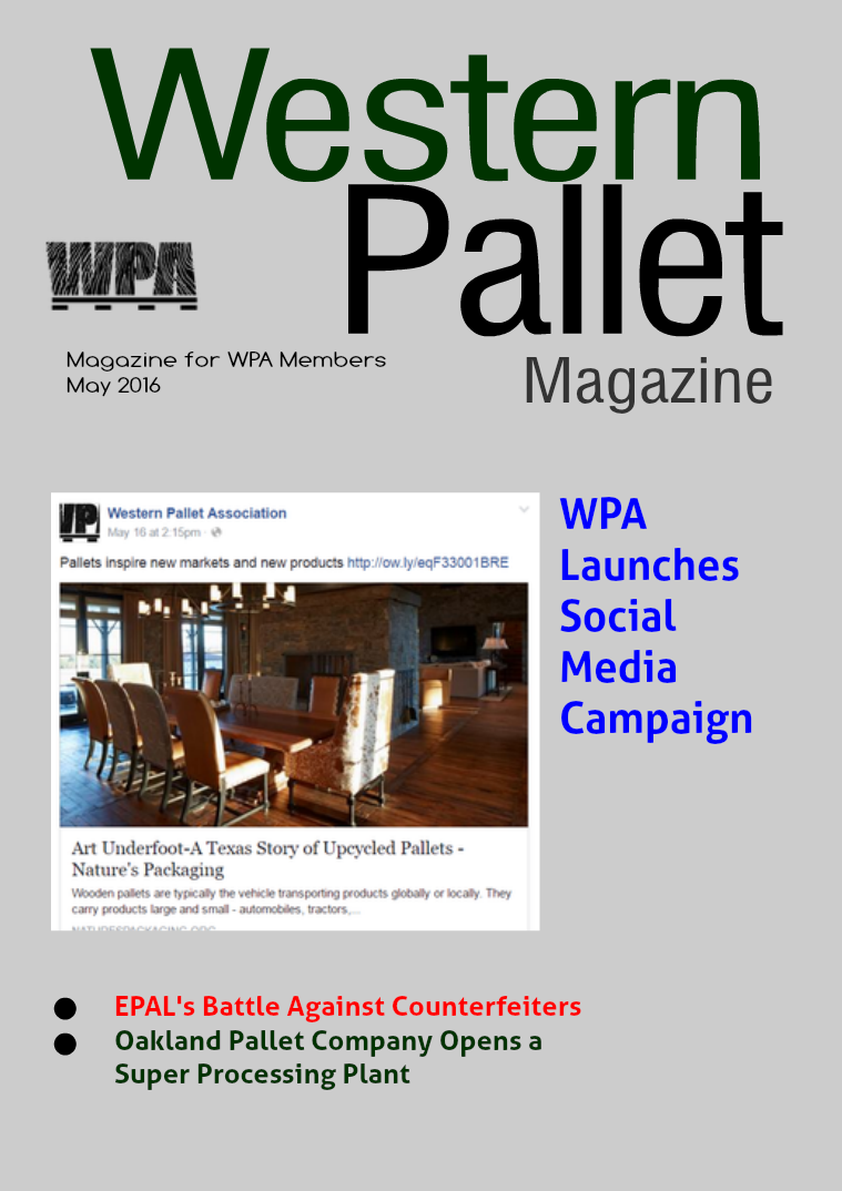 Western Pallet Magazine May 2016