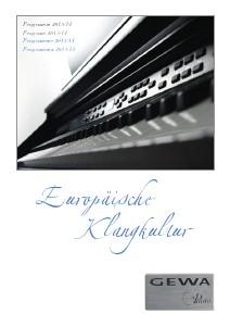 Gewa music Ibérica Catàlogo de Pianos Digitales