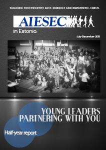 AIESEC in Estonia report Dec 2013