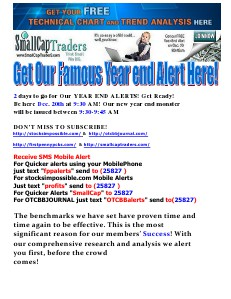 GET OUR FAMOUS YEAR END ALERT HERE! DEC. 20, 2013
