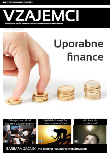Naložbeni magazin Vzajemci avgust 2014