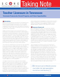 The Path To Teacher Licensure In Tennessee