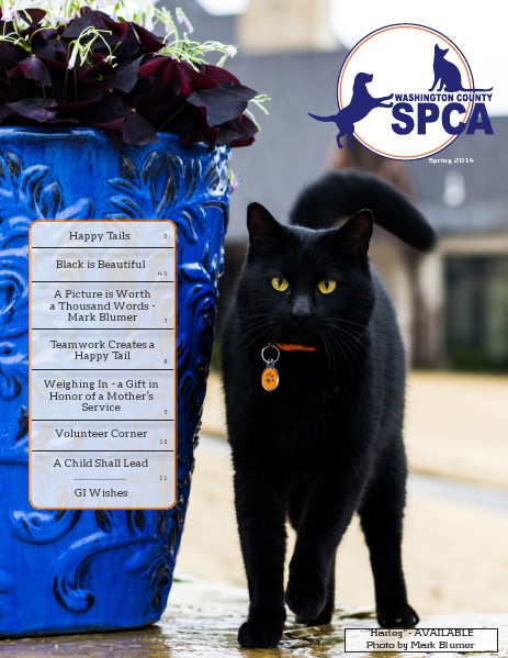 Washington County SPCA Newsletter SPRING 2014