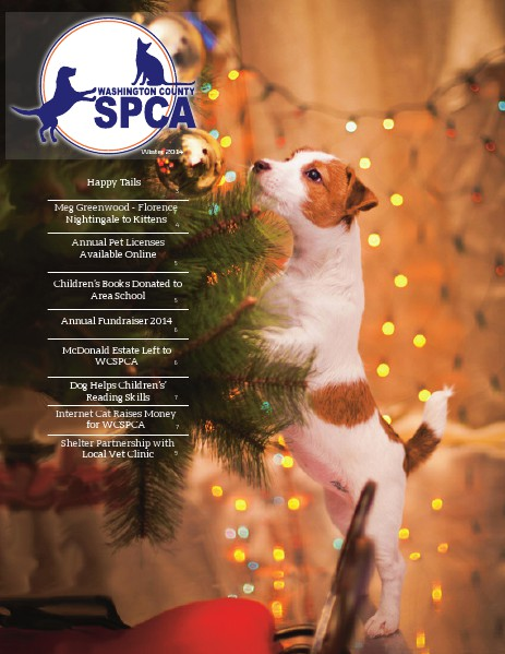Washington County SPCA Newsletter WINTER 2014 | Joomag Newsstand